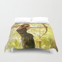archer Duvet Covers featuring The Fairy Archer by Karma Tales