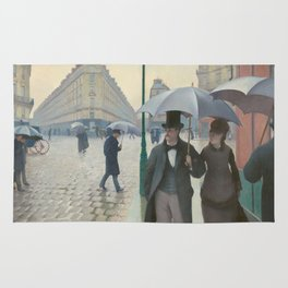 Paris Street Rainy Weather by Gustave Caillebotte, 1877 Rug