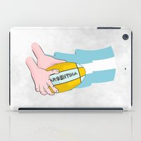 argentina iPad Cases featuring Argentina Rugby by mailboxdisco