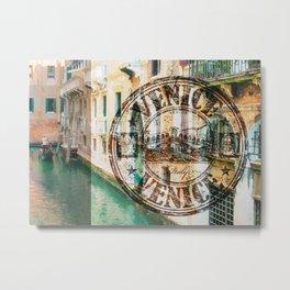 Venice Typograph Metal Print
