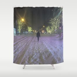 Commute Blizzard of 2016 Shower Curtain