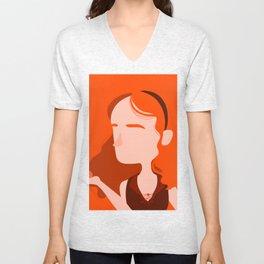 "Color Girl Series: ""Clementine"" Unisex V-Neck"