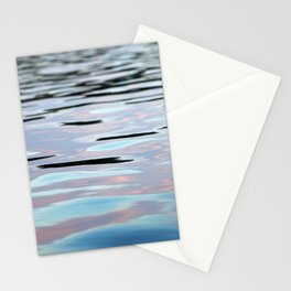 Pink, Lavender, and Blue Water Abstract Stationery Cards