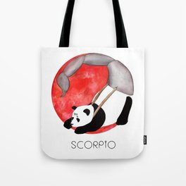 Panda Zodiac Scorpio Tote Bag