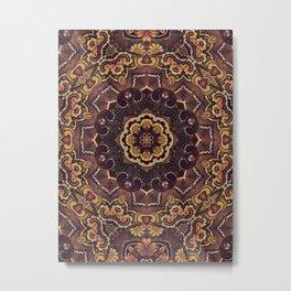70s Paisley Mandala Metal Print