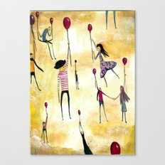 To Catch A Ride on A Red Balloon Canvas Print