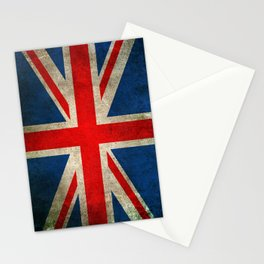 Old and Worn Distressed Vintage Union Jack Flag Stationery Cards