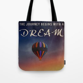 DREAMS Hot Air Balloon Poster Art Tote Bag
