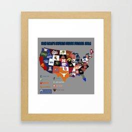 map football Framed Art Print