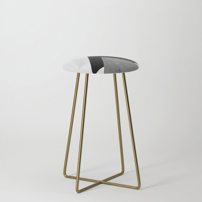 Arrows Monochrome Collage Counter Stool