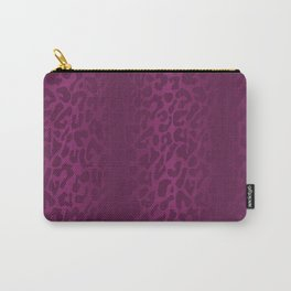 Purple Shadowed Leopard Print Carry-All Pouch