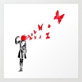 banksy gun Art Print