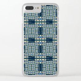 Deep Wata - Gingham Clear iPhone Case