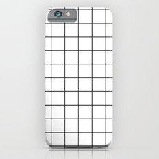 White Black Grid Minimalist iPhone 6 Slim Case