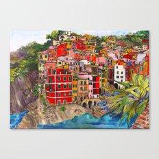Manarola, Italy  Canvas Print