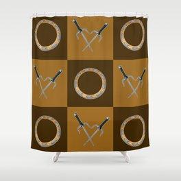 Xena Color Block Shower Curtain