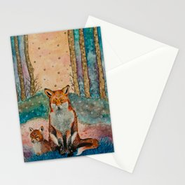 Daydreaming Fox Stationery Cards