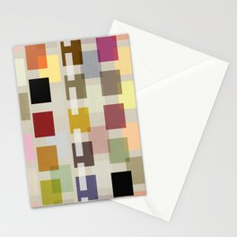 MID-CENTURY COLOR BLOCK LINEN Stationery Cards