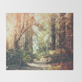Beautiful California Redwoods Throw Blanket