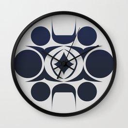 Future Abstract Alien Symbol Wall Clock