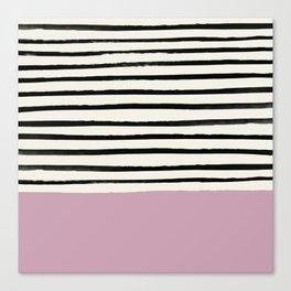 Dusty Rose & Stripes Canvas Print