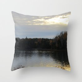 Downeast Autumn Reflections of Scattered Illuminations Throw Pillow