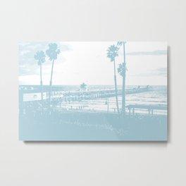 San Clemente Pier, Southern California Metal Print