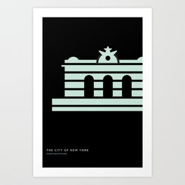 New York Skyline: Grand Central Terminal Art Print
