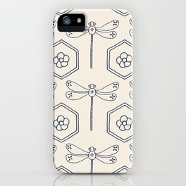 Dragonfly Hexagon iPhone Case