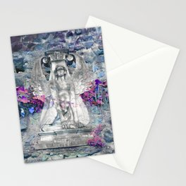 Sphinx in Roma - Violet Stationery Cards