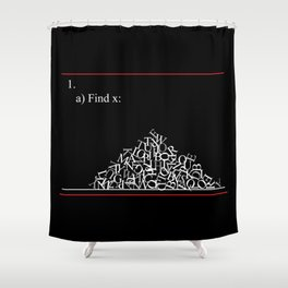 Math Problem Shower Curtain