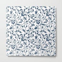 Modern Flowers Pattern Art Metal Print