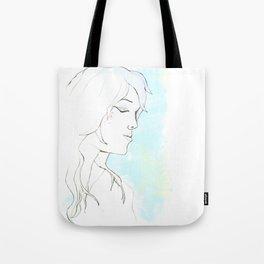 Girl in blue Tote Bag