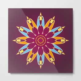 Purple background and a colorful circle pattern Metal Print