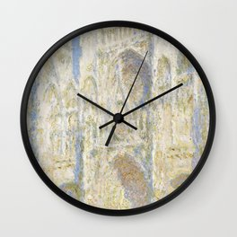 Rouen Cathedral West Facade Sunlight Wall Clock