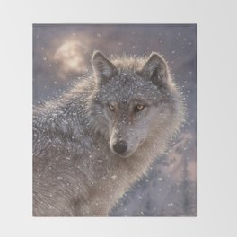 Lone Wolf Throw Blanket