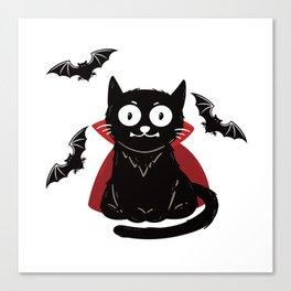 vampire cat furniture Design by diegoramonart Canvas Print