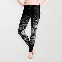 Ink pen steampunk art Leggings