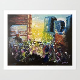 Lost in the crowd  Art Print