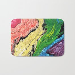 Abstract Rainbow (horizontal) Bath Mat