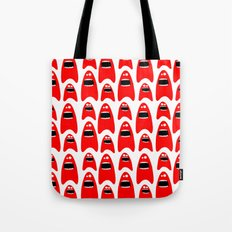 red monsters Tote Bag