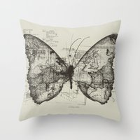 backpack Throw Pillows featuring Butterfly Effect by Tobe Fonseca