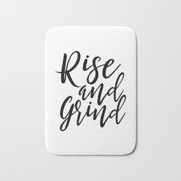 Bedroom Decor Rise And Grind Rise And Shine Inspirational Wall Art Kitchen Decor Kitchen Wall art Bath Mat