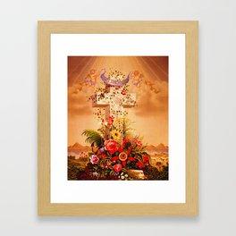 Faith Hope Charity - Christian Cross Framed Art Print