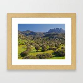 Five Finger Mountain Framed Art Print