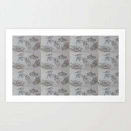 10000 Hands Art Print