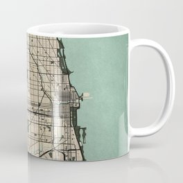 Chicago City Map of the United States - Vintage Coffee Mug