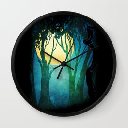 Dance By The Light Of The Full Moon Wall Clock
