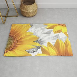 Sunflower Bouquet #decor #society6 #buyart Rug