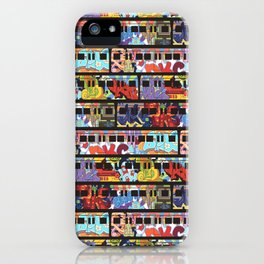 Painted Trains iPhone Case